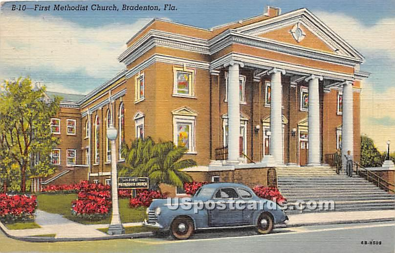 First Methodist Church - Bradenton, Florida FL Postcard