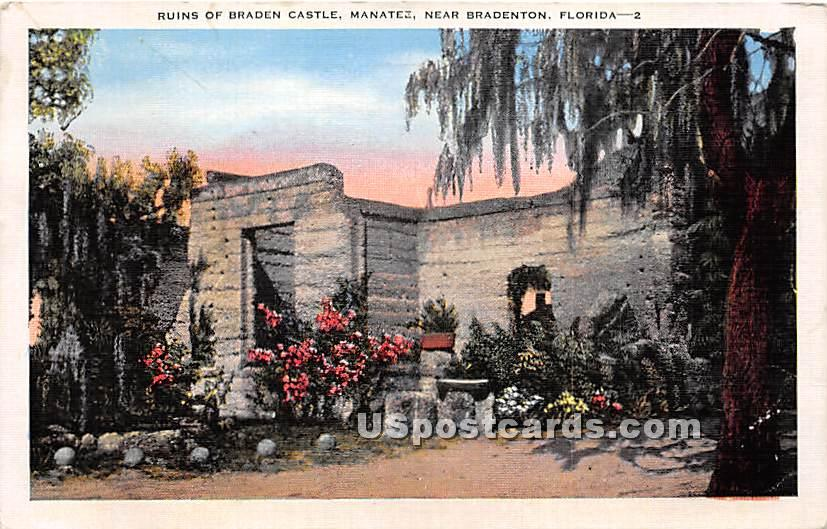 Ruins of Braden Castle - Bradenton, Florida FL Postcard