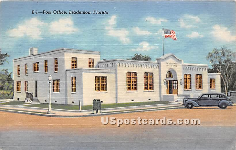 Post Office - Bradenton, Florida FL Postcard