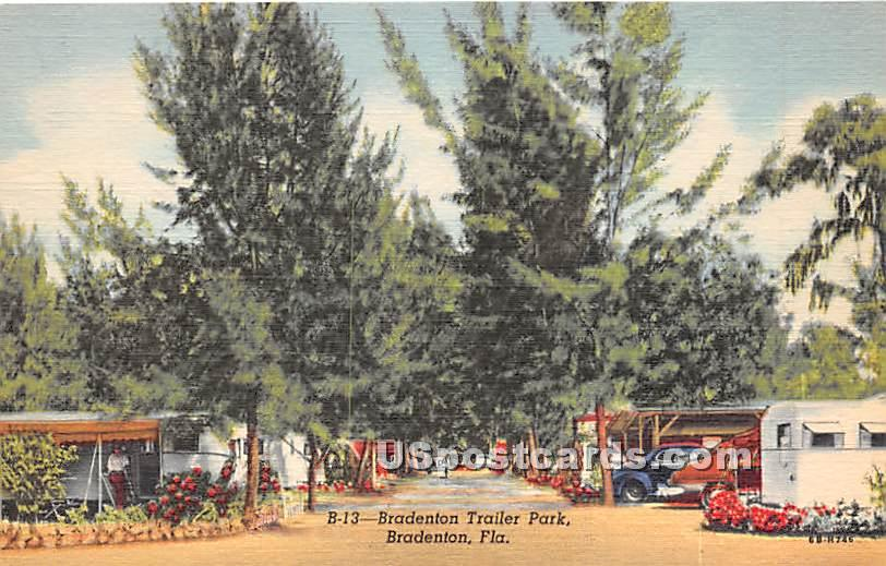 Bradenton Trailer Park - Florida FL Postcard