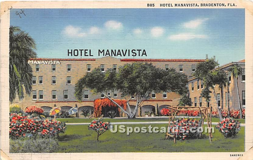 Hotel Manavista - Bradenton, Florida FL Postcard