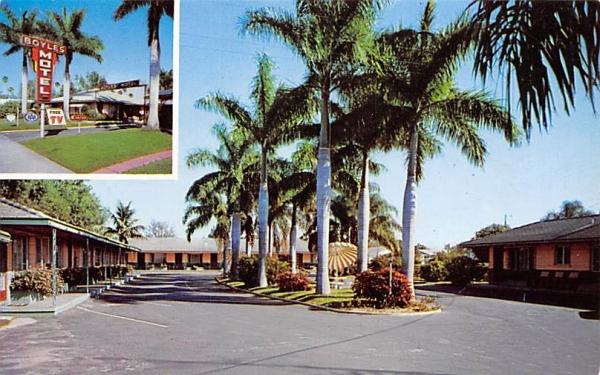 Boyles Motel Bradenton, Florida Postcard