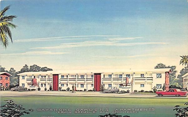 Bayshore Gardens Apartments Bradenton, Florida Postcard
