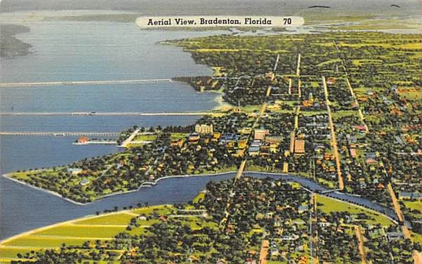 Aerial View  Bradenton, Florida Postcard