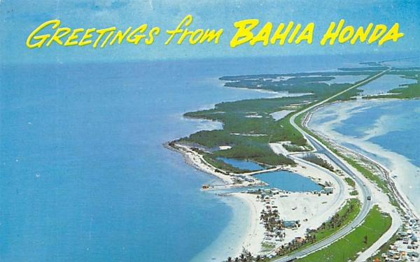 Greetings from Bahia Honda in Florida Keys, USA Postcard
