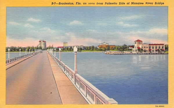 Bradenton, FL, USA Florida Postcard
