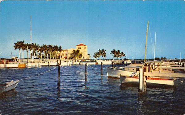 Yacht Basin and Chamber of Commerce Bradenton, Florida Postcard
