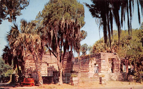 The Crumblig Ruins of Braden Castle  Bradenton, Florida Postcard