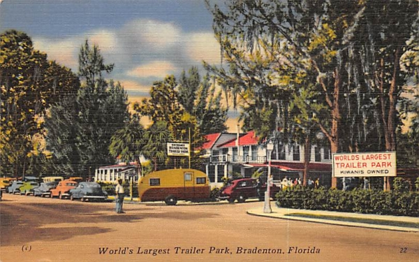 World's Largest Trailer Park Bradenton, Florida Postcard