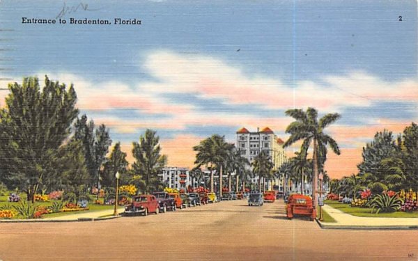 Entrance to Bradenton, FL, USA Florida Postcard