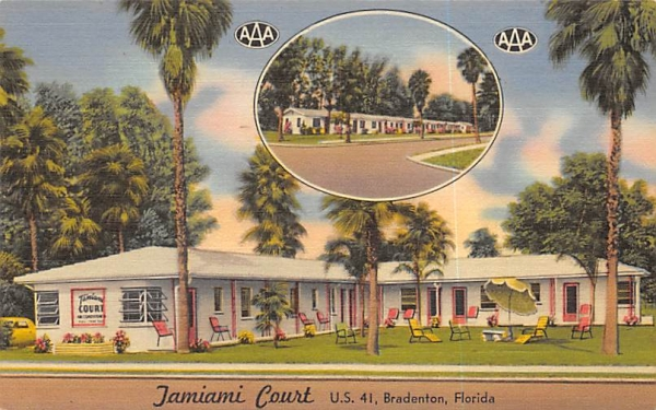 Jamiami Court Bradenton, Florida Postcard