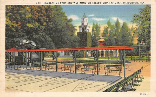 Recreation Park, Westminister Presbyterian Church Bradenton, Florida Postcard