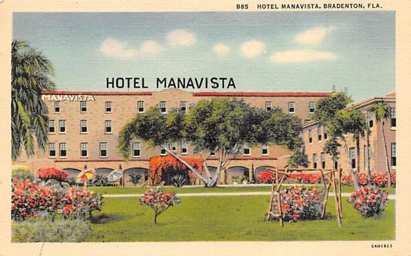 Hotel Manavista Bradenton, Florida Postcard