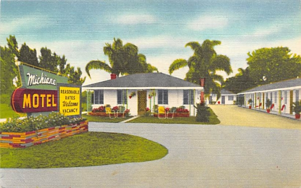 Michiana Motel Bradenton, Florida Postcard