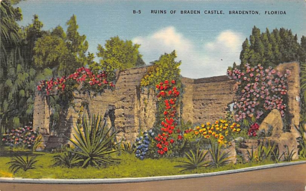 Ruins of Braden Castle Bradenton, Florida Postcard