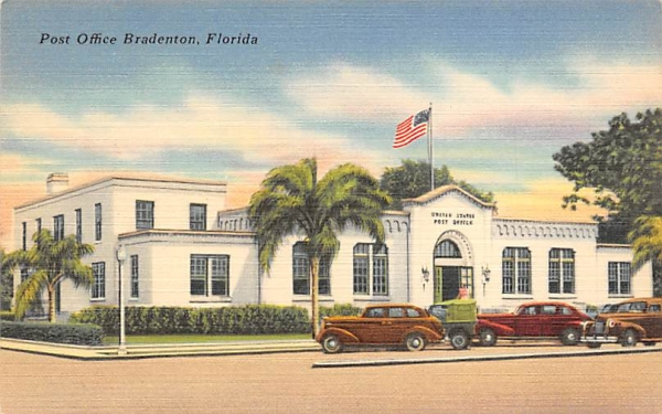 Post Office Bradenton, Florida Postcard