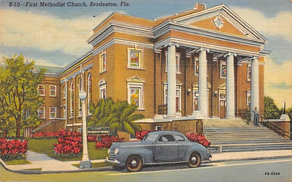 First Methodist Church Bradenton, Florida Postcard