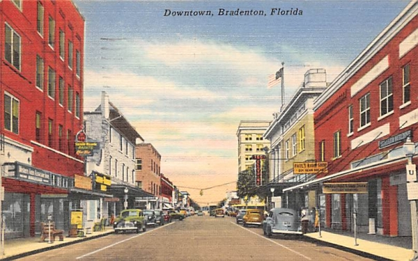 Downtown Bradenton, FL, USA Florida Postcard