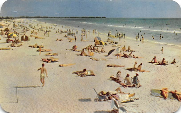 Bathing Attracts Many to the Florida Beaches Postcard