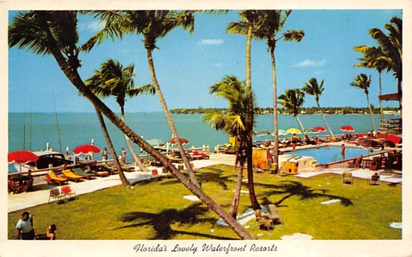 Florida's Lovely Waterfront Resorts Postcard
