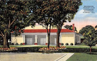 Bradenton Tourist Club Auditorium Florida Postcard