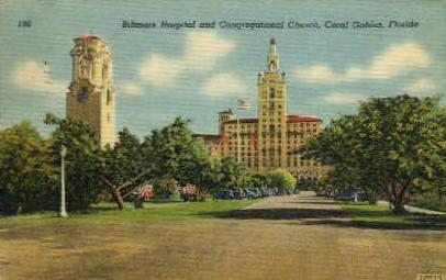 Biltmore Hospital - Coral Gables, Florida FL Postcard