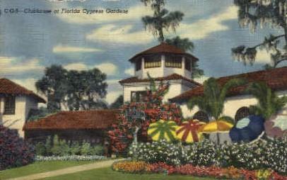 Clubhouse  - Cypress Gardens, Florida FL Postcard