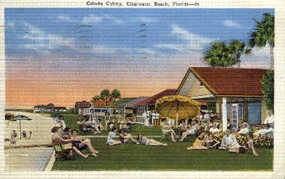 Cabana Colony - Clearwater, Florida FL Postcard