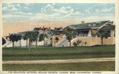Belleview Cottages - Clearwater, Florida FL Postcard