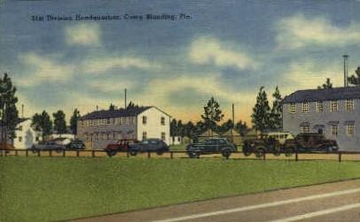 31st Division Headquarters - Camp Blanding, Florida FL Postcard