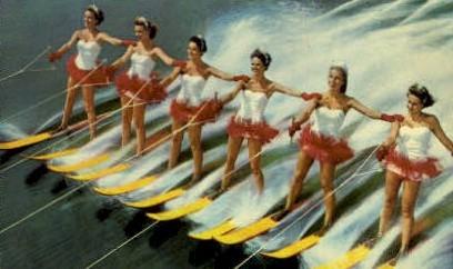 Aquamaids - Cypress Gardens, Florida FL Postcard