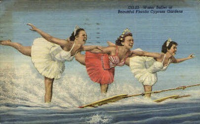 Water Ballet - Cypress Gardens, Florida FL Postcard