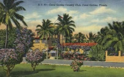 Coral Gables Country Club - Florida FL Postcard