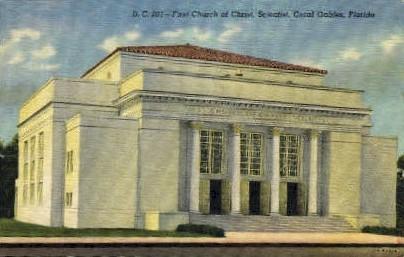 First Church of Christ - Coral Gables, Florida FL Postcard