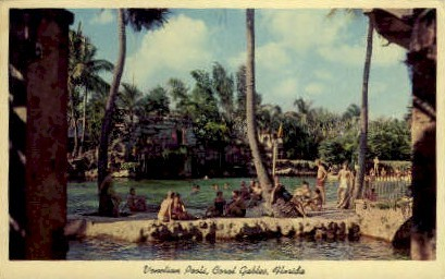 Venetian Pools - Coral Gables, Florida FL Postcard