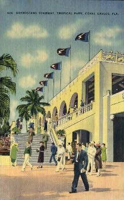 Grandstand Stairway - Coral Gables, Florida FL Postcard