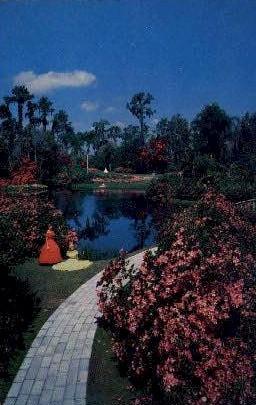 Florida Garden - Cypress Gardens Postcard