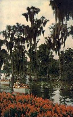 Sihgtseeing Boats - Cypress Gardens, Florida FL Postcard