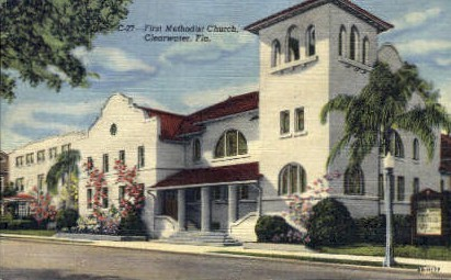First Methodist Church - Clearwater, Florida FL Postcard