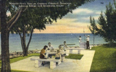 Courtney Campell Causeway - Clearwater, Florida FL Postcard