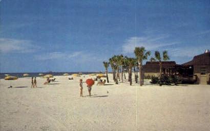 White Sand Beach - Clearwater, Florida FL Postcard