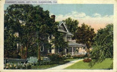 Community House - Clearwater, Florida FL Postcard