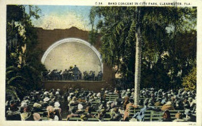 Band Concert - Clearwater, Florida FL Postcard