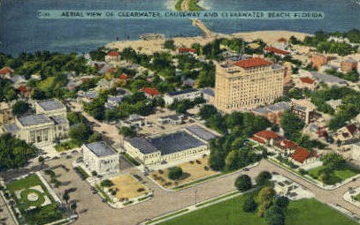 Aerial View - Clearwater, Florida FL Postcard