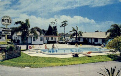 Colonial House Motel - Clearwater, Florida FL Postcard