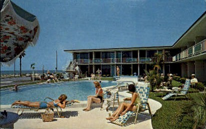 Hi Seas Motel - Clearwater, Florida FL Postcard