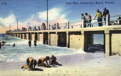 New Pier - Clearwater, Florida FL Postcard