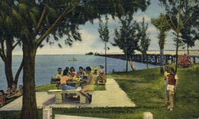 Courtney Campbell Parkway - Clearwater, Florida FL Postcard