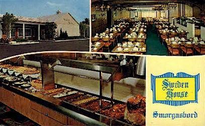 Sweden House Smorgasbord - Clearwater, Florida FL Postcard