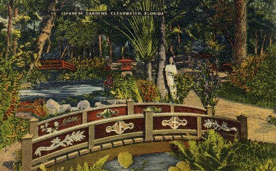 Japanese Gardens - Clearwater, Florida FL Postcard